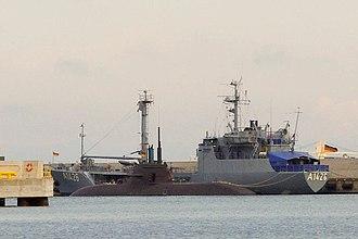 Type 212 submarine -  U33 in Tallinn harbor, Estonia