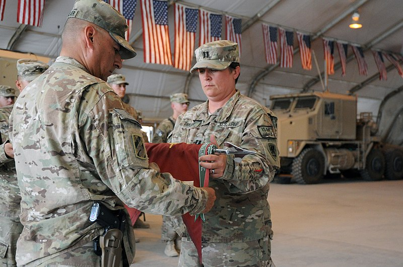 File:U S  Army Capt  Melody Taylor, right, and 1st Sgt