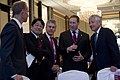 U.S. Secretary of Defense Chuck Hagel, right, talks with, from left, Dennis Muilenburg, the president and chief executive officer of Boeing Defense, Space and Security; Japanese Minister of Defense Itsunori 130531-D-BW835-113.jpg