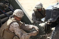 U. S. Marine Lance Cpl. Cory Kientz (left) and Lance Cpl. Jacob Farran (right) with Transportation Support Company, Combat Logistics Regiment 2, 2nd Marine Logistics Group, execute a vehicle recovery mission for 120829-M-KS710-037.jpg