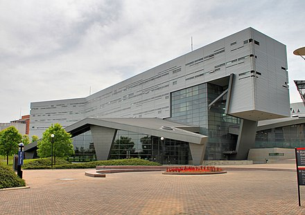 Campus Recreation Center Housing, designed by Thom Mayne, opened in 2006. UC Rec Center 05.jpg