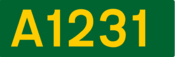 A1231 road shield