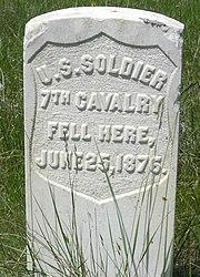 Marker stone on the battlefield.