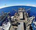 USNS Cesar Chavez conducts a replenishment-at-sea. (13901003323).jpg