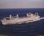USNS Mendonca (T-AKR-303) undeway at sea.jpg