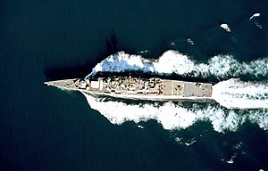 USS Bronstein (FF-1037), overhead view