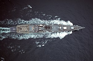 Knox-class frigate - Overhead view of Knox-class frigate USS Fanning (FF-1076)
