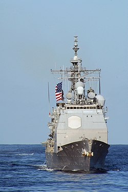 USS Princeton at sea