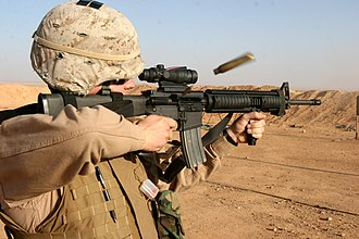 Advanced Combat Optical Gunsight - Image: US Marine M16A4 Rifle ACOG