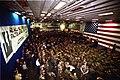 US Navy 030828-N-8933S-010 U.S. Senator John Warner (R-Va.), Chairman, Senate Armed Services Committee, addresses Sailors and Marines in the hangar bay aboard USS Iwo Jima (LHD 7).jpg