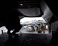 US Navy 050616-N-0000P-007 Sailors aboard the conventionally powered aircraft carrier USS Kitty Hawk (CV 63) prepare to unload a C-2A Greyhound after landing aboard the ship.jpg