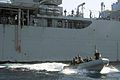 US Navy 060128-N-4374S-009 A Visit, Board, Search and Seizure (VBSS) team, assigned to the dock landing ship USS Carter Hall (LSD 50), en route to an Indian Cargo dhow where they conducted a master consent boarding.jpg