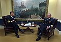 US Navy 060214-N-2383B-087 Chief of Naval Operations (CNO) Adm. Mike Mullen, meets with Royal Norwegian Navy Chief of Staff, Rear Adm. Jan Eirik Finseth.jpg