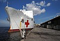 US Navy 070921-N-0194K-008 Military Sealift Command hospital ship USNS Comfort (T-AH 20) is docked while completing a week of medical aid in Trinidad and Tobago.jpg