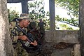 US Navy 070925-N-0989H-457 U.S. Marines assigned to a mobile training team conduct Close Quarters Battle and room clearing drills with members of the Jamaica Defense Force.jpg