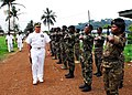 US Navy 071204-N-8933S-058 Cameroonian sailors salute Capt. John B. Nowell Jr., commodore, Africa Partnership Station (APS), on the departure from Limbe Naval Base after discussions of training and construction projects.jpg
