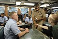 US Navy 080616-N-9818V-255 Master Chief Petty Officer of the Navy (MCPON) Joe R. Campa Jr. meets and talks with Sailors aboard the USS Topeka (SSN 745) during a tour of the submarine.jpg