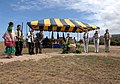 US Navy 090410-N-0535P-166 Dignitaries break ground in a ceremony to dedicate the construction of the Kauai Veterans Eternal Memorial and Missile Defense Viewing Site at the Pacific Missile Range Facility, Barking Sands, Kauai.jpg