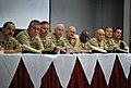 US Navy 091104-N-8273J-214 Fleet, Force and Command Master Chiefs listen as Chief of Naval Operations Adm. Gary Roughead answers questions.jpg