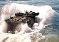US Navy 100907-N-3620B-084 An amphibious assault vehicle launches from the well deck of USS Denver (LPD 9).jpg