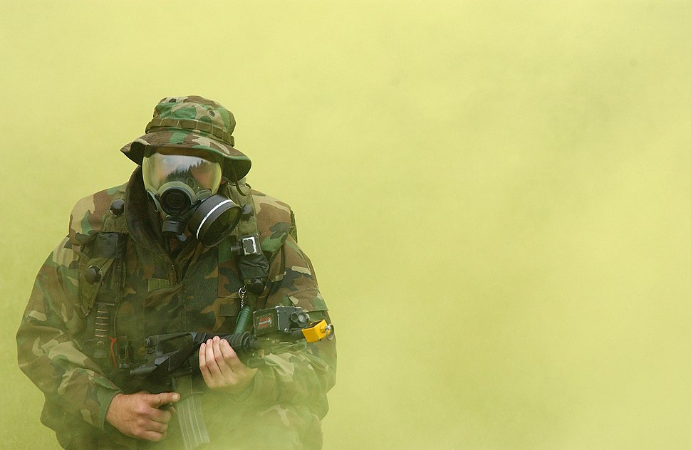 US Navy gas mask exercise 021015-N-6996M-589