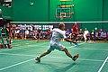US Senior International Badminton Tourney (Miami) - Sylvain playing MS35 (16463557909).jpg