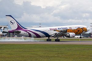 Meraj Airlines - Meraj Airlines Airbus A300-600 painted in Asiatic cheetah livery in Moscow