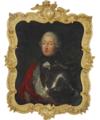 Ubekendt maler, 18. årh. - Portræt af en adelsmand siddende i rustning med Dannebrogsordens stjerne.png