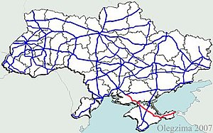 Highway M17 (Ukraine) - Image: Ukraine road m 17