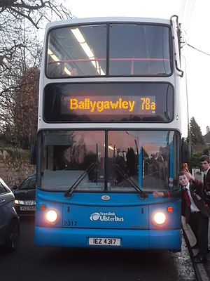 Ulsterbus - A Volvo B7TL with Alexander ALX400 in Dungannon