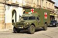 Un Nissan Patrol y un Uro VAMTAC ambulancia de la BRILAT (15262708988).jpg