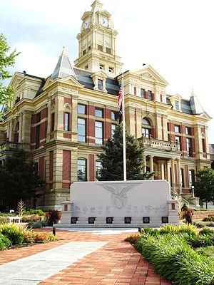 Marysville, Ohio - Union County Courthouse, Uptown