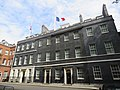 Union and French flag at half-mast in 10 Downing Street.jpg