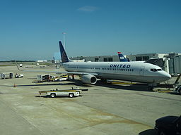 United Airlines at Gate In Orlando