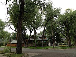 University Neighborhood Historic District (Laramie, Wyoming) residential area south of the University of Wyoming in Laramie, Wyoming
