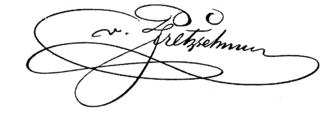 Adolph von Pfretzschner - The signature of Adolph von Pfretzschner.