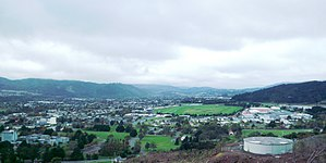 Upper Hutt - Upper Hutt, view towards city centre.