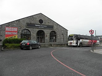 Monaghan railway station - Monaghan railway goods shed, now a furniture store.