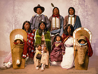 Indigenous peoples of the Great Basin - Ute chief Severo and his family 1899