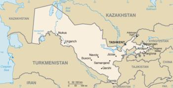 English: Map of Uzbekistan