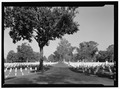 VIEW ALONG MAIN INTERIOR ROAD. VIEW TO NORTHEAST. - New Bern National Cemetery, 1711 National Avenue, New Bern, Craven County, NC HALS NC-1-13.tif