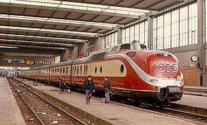 Trans Europ Express - Image: VT 11.5 in Munich (1970)