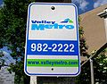 Valley Metro bus stop signage in Roanoke, Virginia.jpg
