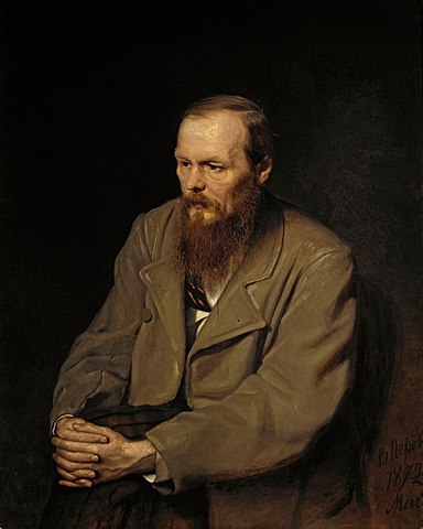 Portrait of the Writer Fyodor Dostoyevsky, by Vasily Perov, 1872 Oil on canvas The Tretyakov Gallery, Moscow