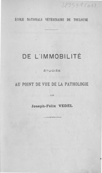 File:Vedel - De l'immobilité étudiée au point de vue de la pathologie.djvu