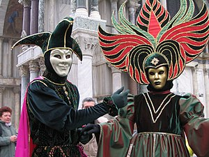 Masquerade ball at the Carnival of Venice