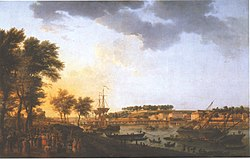 Claude Joseph Vernet: View of Bayonne, from Allée de Boufflers near Porte de Mousserole