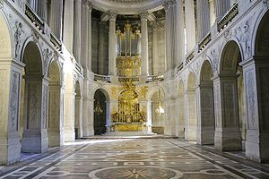 Chapels of Versailles - Altar of the chapel of Versailles; the very spot where Marie Antoinette married Louis XVI.