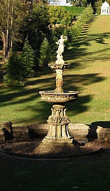 Pulhamite And Terracotta Fountain In Dunorlan Park