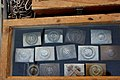 Victory Show Cosby UK 06-09-2015 WW2 re-enactment display Trade stalls Misc. militaria personal gear replicas reprod. originals collect. zaphad1 Flickr CC BY 2.0 uniforms equipm. German belt buckles IMG 3817.jpg
